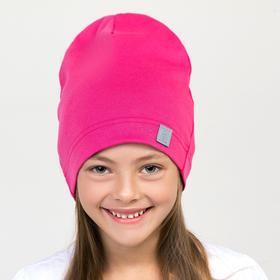 Шапка для девочки, цвет фуксия, размер 50-54