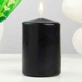 Свеча- цилиндр, 6,3х9 см, черная