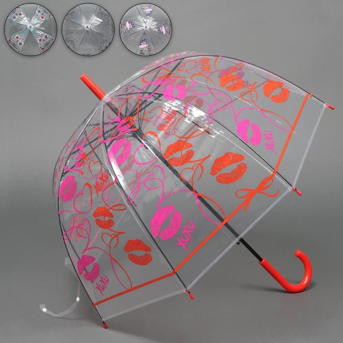 Зонт - трость полуавтоматический «Ассорти», 8 спиц, R = 40 см, цвет МИКС