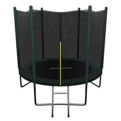 Батут ONLITOP, d=244 см, с лестницей, с сеткой высотой 173 см, цвет зелёный - Фото 1