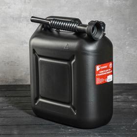 Канистра для ГСМ TORSO, 10 л, пластиковая, с воронкой Ош