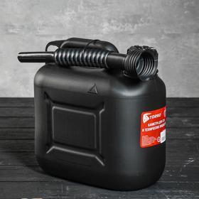 Канистра для ГСМ TORSO, 5 л, пластиковая, с воронкой Ош