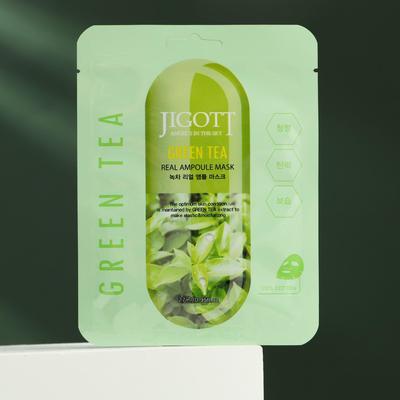 Тканевая маска Jigott натуральная, с экстрактом зелёного чая, 27 мл - Фото 1