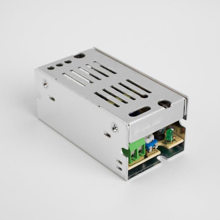 Блок питания для светодиодной ленты General, 15 Вт, 70х38х30 мм, 220-12 В, IP20