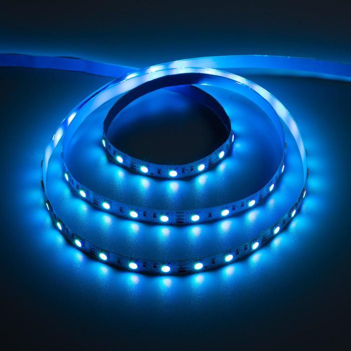 Комплект светодиодной ленты URM, 5 м 2 шт, SMD5050, 60LED/м, 12В, 14.4 Вт, 840 лм, IP20,RGB