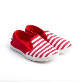 Слипоны детские, цвет красный, размер 32