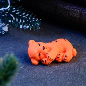 """Мыло фигурное """"Тигрёнок спит"""" оранжевое, 20гр"""