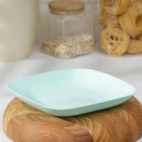 Тарелка, 19×19×2,8 см, цвет бирюзовый