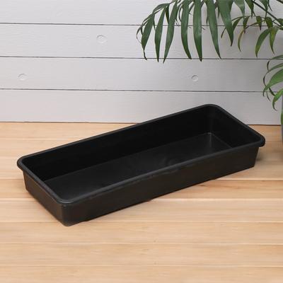 Ящик для рассады, 53 × 21,5 × 7,2 см, 7,5 л, чёрный - Фото 1