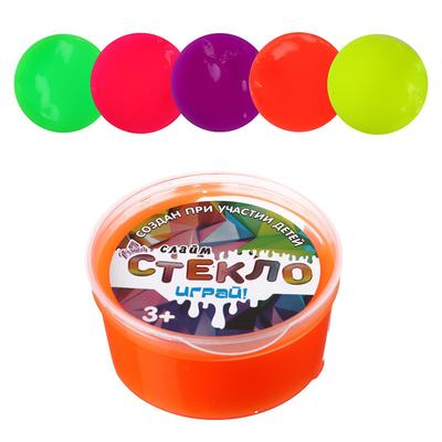 Слайм «Стекло», яркие неоны, 50 г, МИКС - Фото 1