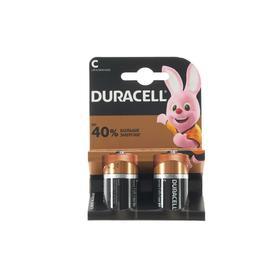 УЦЕНКА Батарейка алкалиновая Duracell Basic, C, LR14-2BL, 1.5В, блистер, 2 шт.