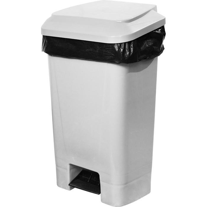 Контейнер мусорный 60л 330х445х800 серый с педалью и пакетодержателем