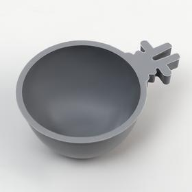 Миска для грызунов 30 мл , серый Ош
