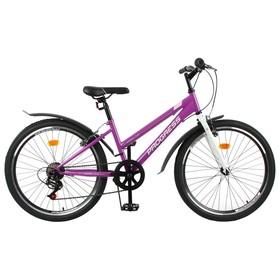 Велосипед 24' Progress Ingrid low, цвет фиолетовый/белый, размер 13' Ош