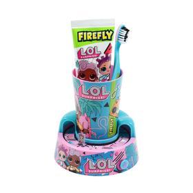 Набор Firefly L.O.L. LO-13: зуб. щётка + зуб. паста 75 мл + подставка-таймер, от 6-12 лет