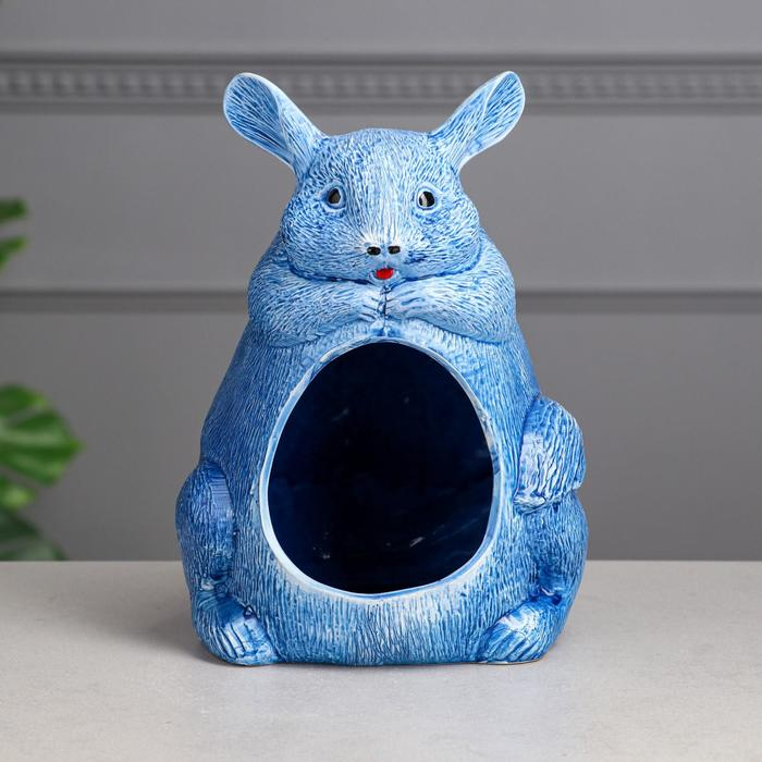 Ванна для шиншилл, синяя, 24 см