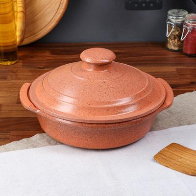 """Сковорода с ручками """"Гранит"""", оранжевая, 28 см - Фото 1"""