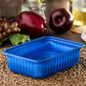 Контейнер одноразовый «Южуралпак», КР-179, 750 гр, 17,9×13,2×5 см, цвет синий
