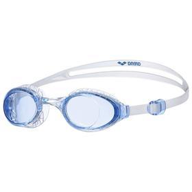 Очки для плавания ARENA Airsoft, голубые линзы, нерегулируемая переносица, голубая оправа