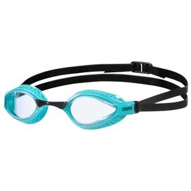 Очки для плавания ARENA Airspeed, прозрачные линзы, сменная переносица, бирюзовая оправа