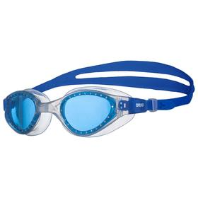 Очки для плавания ARENA Cruiser Evo, голубые линзы, нерегулируемая переносица, прозрачная оправа