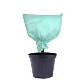 Чехол для растений, прямоугольный на завязках, 80 × 60 см, спанбонд с УФ-стабилизатором, плотность 100 г/м², белый, «Листья» Ош