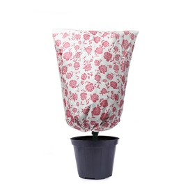 Чехол для растений, прямоугольный на завязках, 80 × 60 см, спанбонд с УФ-стабилизатором, плотность 100 г/м², белый, «Розы» Ош
