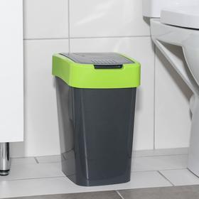 Ведро для мусора «Евро», 10 л, цвет гранит-оливковый