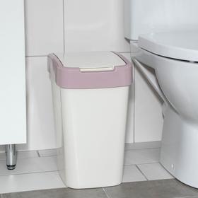 Ведро для мусора «Евро», 18 л, цвет молочно-розовый