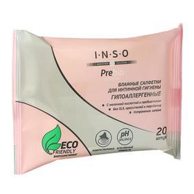 Влажные салфетки «INSO» Prebio Sensitive, для интимной гигиены, 20шт