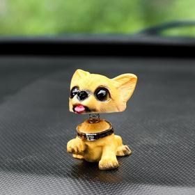 Собака на панель авто, качающая головой, мини, СП 25 Ош