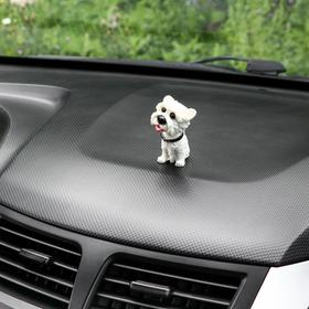 Собака на панель авто, качающая головой, мини, СП 30 Ош