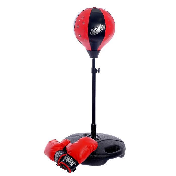 Набор для бокса «Нокдаун», напольная груша, перчатки, 81-120 см