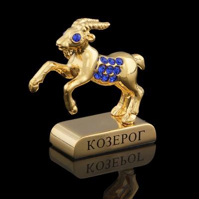 Сувенир знак зодиака «Козерог», 5×2×5 см, с кристаллами Сваровски - Фото 1