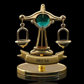 Сувенир знак зодиака «Весы», 7×2,3×9 см, с кристаллом Сваровски Ош