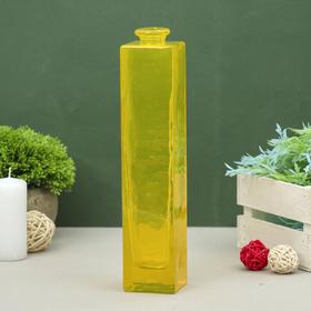 """Ваза """"Нарцисс"""" жёлтая, прозрачная, 0,45 л"""