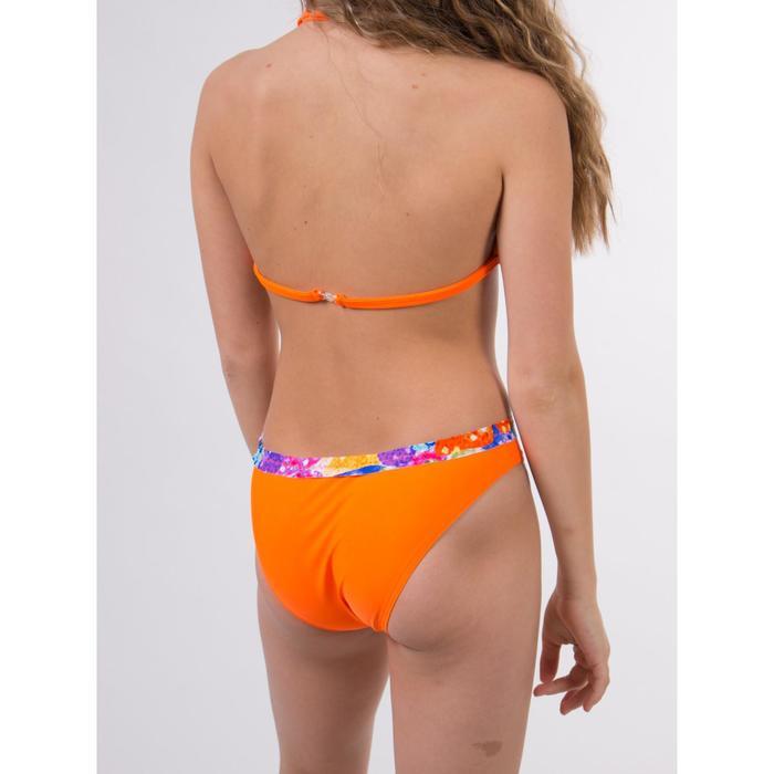 Купальный костюм для девочки, размер 34, цвет оранжевый-синий