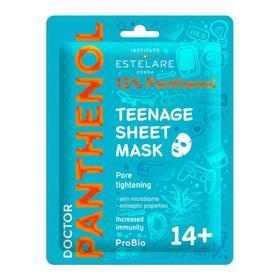 Тканевая маска Estelare Doctor Panthenol для проблемной кожи лица 14+, 20 г