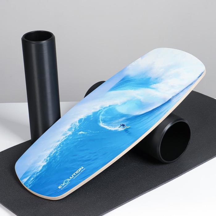 Доска балансировочная балансборд с ковриком