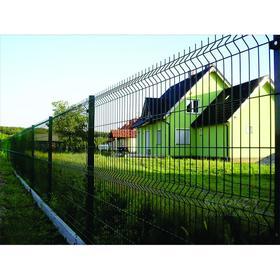 Панельное ограждение 1,23х2,53м RAL 6005 (зеленый), d прута 3,0мм, ячейка 235х55 мм Ош