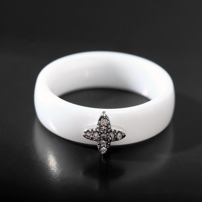 """Колько керамика """"Цветочек"""", цвет белый в серебре, 17 размер"""