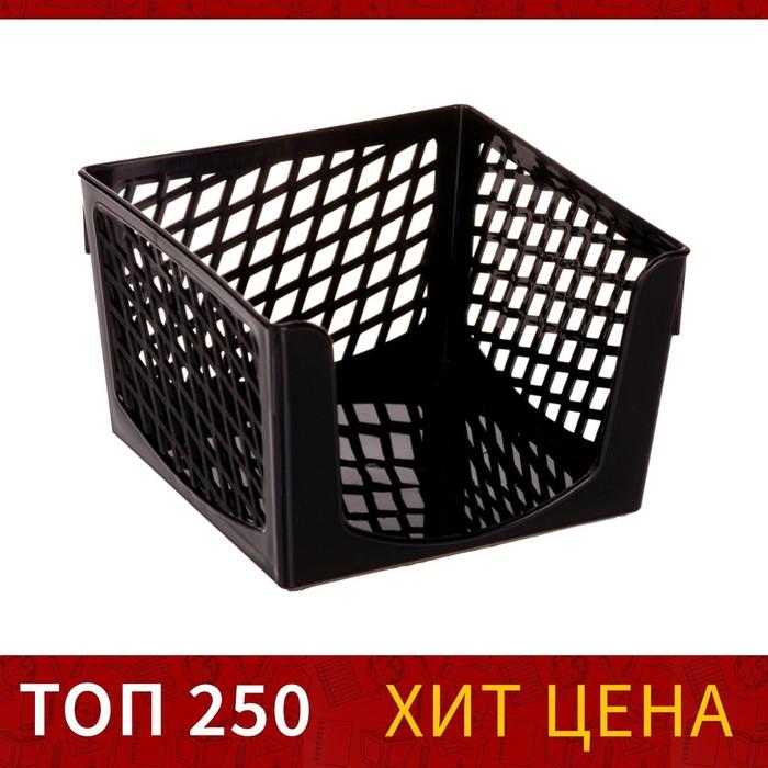 Подставка для бумажного блока Офис-Класс, 90 х 90 х 70 мм, черная