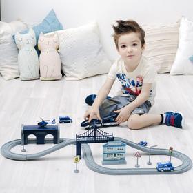Железная дорога для детей, 66 предметов, на батарейках