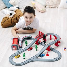 Железная дорога, 80 предметов, на батарейках