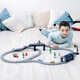 Железная дорога, 70 предметов, на батарейках