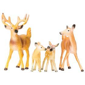Набор фигурок: семья оленей, 4 предмета