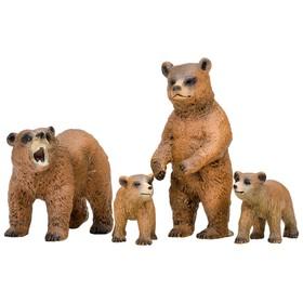 Набор фигурок: семья медведей, 4 предмета