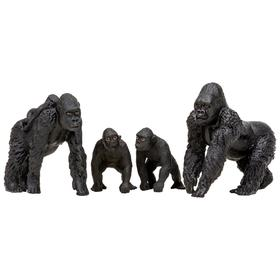 Набор фигурок: семья горилл, 4 предмета