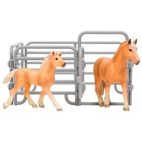 Набор фигурок: Авелинская лошадь, жеребенок, ограждение-загон