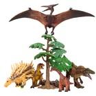 Набор фигурок: птеродактиль, полакантус, цератозавр, тираннозавр мини, 7 предметов